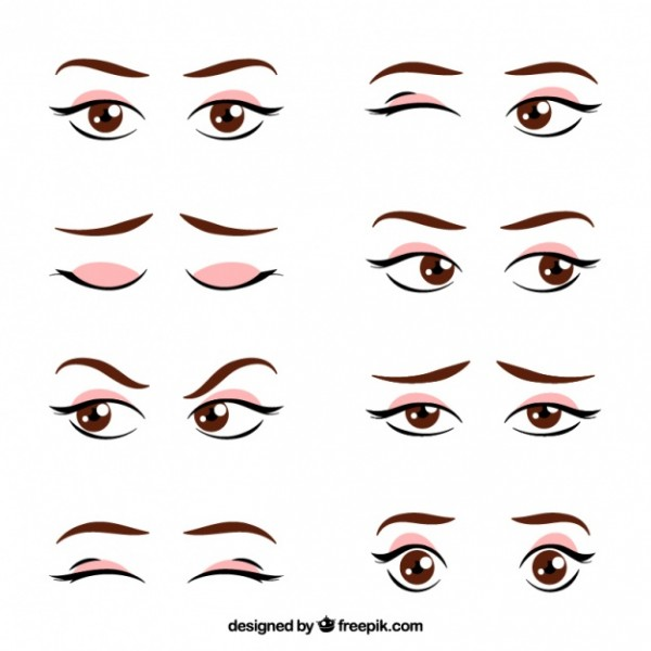 Set de miradas femeninas diseñadas por Feepick